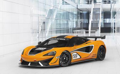 Mclaren 570S GT4 yellow car