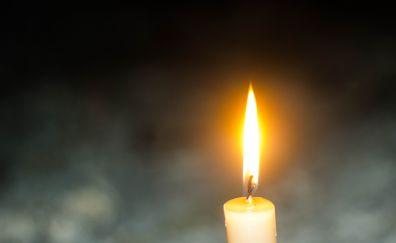 Candles light, fire