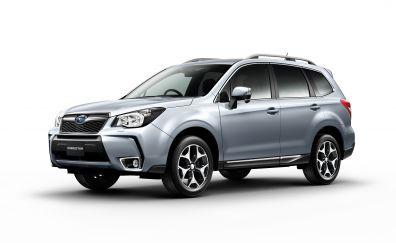 Silver, 2017 Subaru Forester Compact SUV car