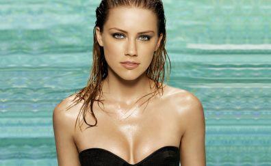 Hot Actress, Amber Heard, wet hair, celebrity