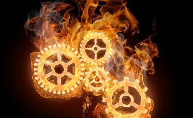 Fire art of gears