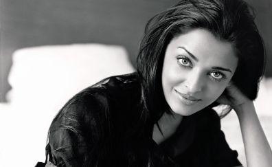 Aishwarya Rai, monochrome, 5k