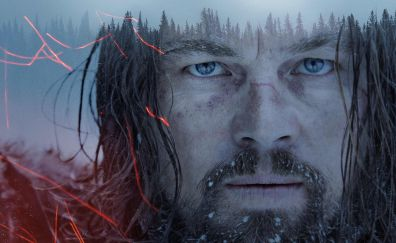 Leonardo DiCaprio in The Revenant movie