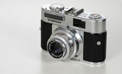 Classic camera, vintage, monochrome
