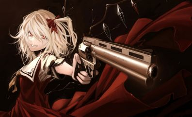 Flandre scarlet with gun, Touhou, anime girl