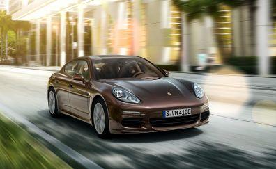 Porsche Panamera, sports car, front view