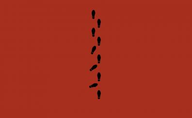 Footsteps minimal artwork