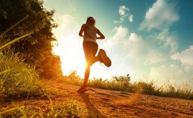 Women running in morning