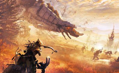War, Aloy, Horizon zero dawn, gaming, fight