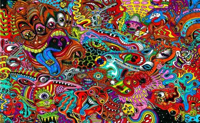 Drawing surreal colorful psychedelic