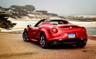 Alfa Romeo 4C Spider, Red car
