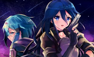 Blue eye anime girls, sword art online