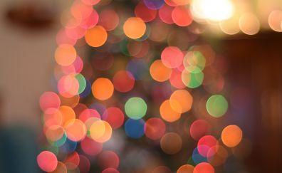 Christmas lights, bokeh