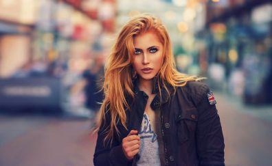 Blonde, model, urban girl
