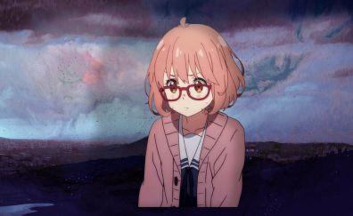 Mirai Kuriyama, Kyoukai no Kanata, anime girl, short hair