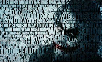 The joker, typographic portrait