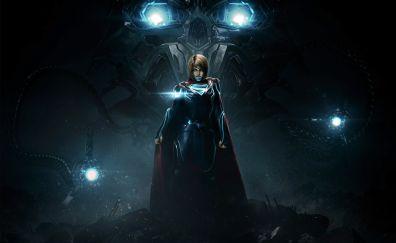 Injustice 2 video game, super girl, superhero, dark