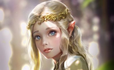 Princess girl, cute, art