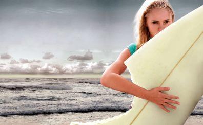 Annasophia Robb, Soul Surfer, movie, beach