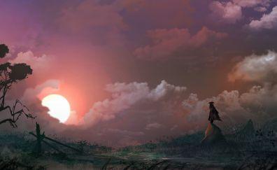 Fantasy artwork of hero