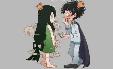 Midoriya izuku, tsuyu asui, My Hero Academia, anime