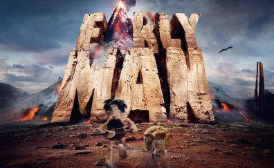 Early man, 2018 animation movie, poster, run