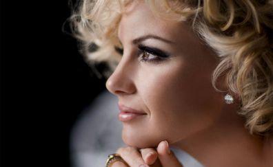 French celebrity, Emmanuelle Béart, face
