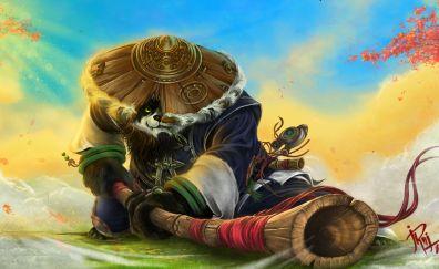 World of Warcraft: Mists of Pandaria online game, panda warrior