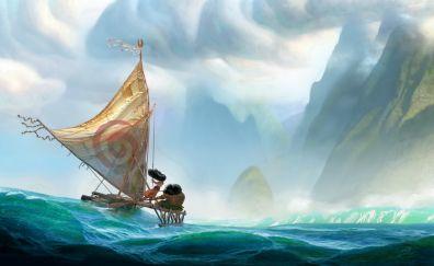 Moana, animation movie, art