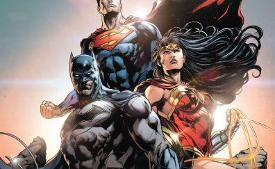 Batman, superman, wonder woman, superhero