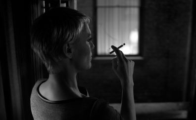 House of Cards, Robin Wright, actress, monochrome