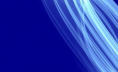 White curves, blue background, abstract