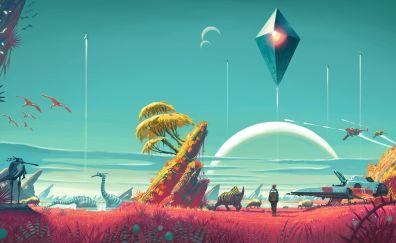 No man's sky video game wallpaper