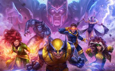 X-Men team, superhero, wolverine
