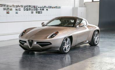 Alfa Romeo Disco Volante car, sliver car, sports car
