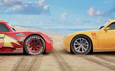 Cars 3, lightning mcqueen, cruz ramirez, still from animation movie