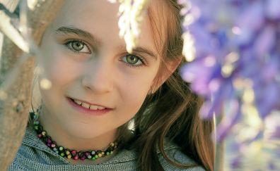 Cute, baby girl, smile, face