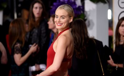 Taylor Schilling's smiling face, actress