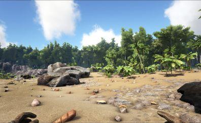 Beach sunset from ARK: survival evolved game