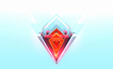 Facet, abstract, triangles