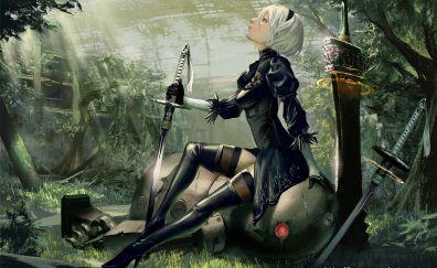 Nier: Automata video game, gaming, anime