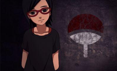 Uchiha sarada naruto anime artwork