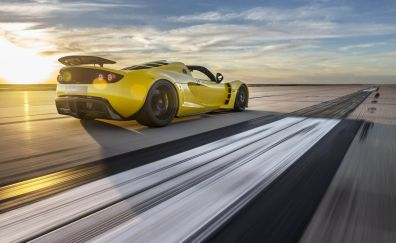 Hennessey Venom GT, sports car, drive, road