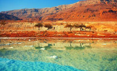 Dead sea, mountains, landscape, nature