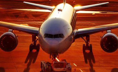 Boeing 777 airplane, plane