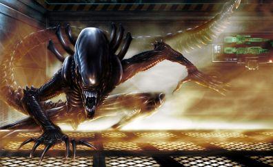 Alien fire grates spaceship artwork