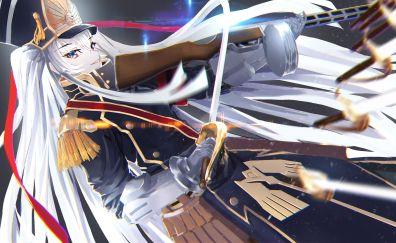 Re:creators, anime girl with guns and sword