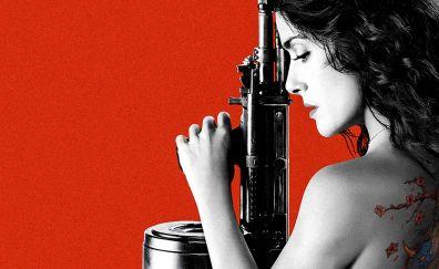 Salma Hayek in Everly, 2014 movie, poster