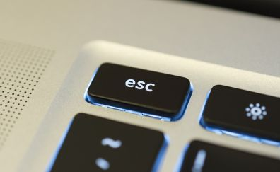 Esc key of keyboard close up