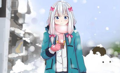 Sagiri Izumi, white hair, cute